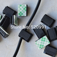 adhesive cable clips - Interior Accessories Auto Fastener Clip mm Car Black Data Wire Fixed clips Tie Cable Mount Wire Clamp Self adhesive