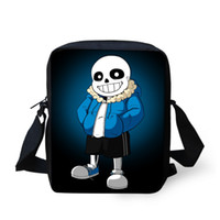 Wholesale Cute D Cartoon Undertale School Bags for Boys Girls Children Shoulder Book Bag Mochila Kids Anime Small Schoolbag Best Gifts