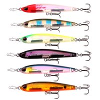 Wholesale 40mm g new pencil Slow sinking fishing lures hard bait fishing tackle plastic lip VMC hook