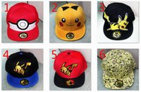 Wholesale 2016 New designs Hats Snapback Cotton Baseball Cartoon Children Adult Sports Hip Hop Picacho baseball Hats hockey Sport Hat