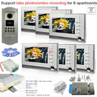 apartments photos - SD Card Photo Memory Indoor Unit RFID lines CCD Outdoor Camera Video Phone Intercom System For Apartments E Lock