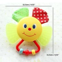 bb smile - Cute Smiling Sunflower Teether Rattle Baby Plastic Multifunctional Educational Toys Ring BB Device For Newborns Infants