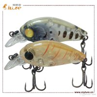 Wholesale 2016 High Quality Artificial Bair Hard Plastic Crank Fishing Lure Mini Crank Lure Vmc Hook Floating Action