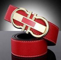 Wholesale 2016 Famous brand belt men mens designer women men f buckle men s belt luxury brand genuine leather belts cummerbunds red belts
