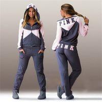 Wholesale Fashion New Women Hoodies Tracksuit Sportswear Hoody Set Pants Joggings Sweatsuit Sports Suit Jogging Suits For Women D494