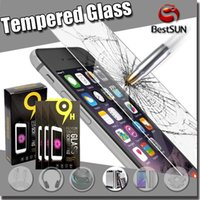 Wholesale 2 D Ultra thin Anti fingerprint Tempered glass Screen Protector For Iphone S Samsung Galaxy S7 S6 note5 LG G5 Paper Package