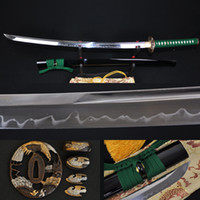 bamboo samurai swords - Japanese samurai T10 katana sword high carbon steel eagle tsuba unokubi zukuri real hamon full tang blade can cut bamboos