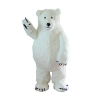 Wholesale Customized Adult Size Polar Bear Mascot Character Cartoon Doll Costume Fancy Dress Party Brithday Xmas White Mascot Costume