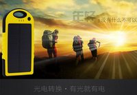 Wholesale Hot mAh Solar Charger and Battery Solar Panel portable power bank for Cell phone Laptop Camera MP4 With Flashlight waterproof shockproof