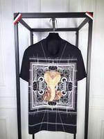 al por mayor nuevos hombres de la moda camiseta-2016 nuevos hombres de la marca de fábrica de la manera hombres short-sleeved del verano hombres del algodón Las camisetas de cuello redondo de la camiseta de la impresión de la cobra