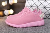 al por mayor mejores botas de las mujeres al por mayor-La venta al por mayor de la fábrica calza el gris negro Y350 de los zapatos del coco de Kanye Zapatillas de deporte de los zapatos de las mujeres de los hombres Zapatos calientes superventas de los cargadores calientes