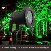 Wholesale Free Delivery Outdoor Waterproof IP65 Laser Firefly Stage Lights Landscape Red Green Projector Christmas Garden Sky Star Lawn Lamps