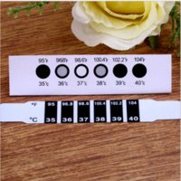 Wholesale 30 Forehead Head Strip Thermometer Fever Body Baby Child Kid Test Temperature Worldwide FreeShipping kid suede