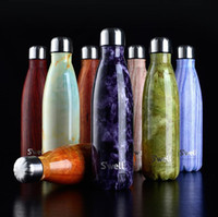 Wholesale 500ML New Swell Coke Bottle Creative Double Wall Stainless Steel Insulated Vacuum Bottle Starbuck Coffee Cola Cup