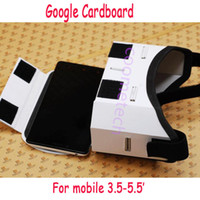 Wholesale DIY Google Cardboard Carton Mobile Phone Virtual Reality D Glasses for IPHONE s Samsung s6 note Nexus Xiaomi HTC LG Head Strap