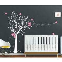 baby name tree - Mega x200cm Koala Tree Birds Wall Sticker Personalized Name Vinyl Decals for Nursery Baby Rooms Decor Home Decoration