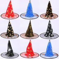 Wholesale Halloween Supplies Christmas party hat cap double ghosts witches hat witch hat magic hat Shamao double