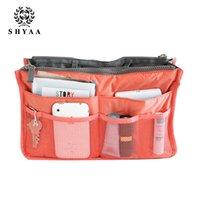 Wholesale SHYAA Women Cosmetic Bag Portable Multifunctional Washing Women Bag Storage Sorting Bags Travel Bag drop shipping