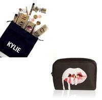 bag dust collection - 240sets Kylie Jenner Make Up Bag Birthday Collection Kylie Lip Kit Makeup Bag Drawstring Dust Bag