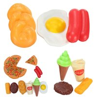 Wholesale Brand New Childrens Kids Pizza Slices Cola Ice Cream Pretend Kitchen Play Food Toy Set TY02103