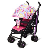 Wholesale New Light Weight Baby Stroller Sit And Lie for Newborn Folding Baby Carriage Portable Travel Colors Select
