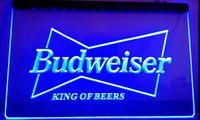 beer party lights - LS033 b Budweiser King Beer Bar Pub Club LED Neon Light Sign jpg