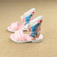 Wholesale Summer Children shoes Girl s Sandals new kids Wings Shoes Fashion Princess Shoes Toddler Kids EU Girl Wings sandals