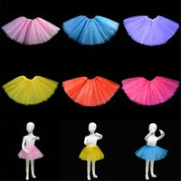 ballet dance accessories - Halloween Costumes Girl Tutu Ballet Skirt Layer Gauzes Bubble Skirt Princess Dress Skirt Colors dance Costume Party Stagewear Dress