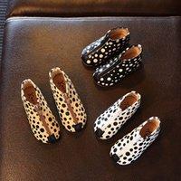 Wholesale Kids Shoes Unisex Cute Polka Dot Boots New Autumn Boys Girlss Fashion Leopard Zipper Shoes ER