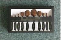 Wholesale Makeup Brushes Set Oval Blending Brush Multipurpose Mermaid Toothbrush Foundation Powder Soft Face Brushes Professional Makeup Tools