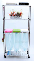 Wholesale Recycling Bin simple life recycle garbage stand garbage frame trolley For household for hospitals