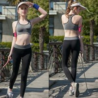 Wholesale Women Sport Tights Pants For Running Fitness Gym Clothes Quick Drying Trousers Elastic Capris Yoga Gym Athletic Sports Leggings