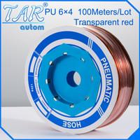 air hose parts - PU tube mm air pipe Pneumatic parts pneumatic hose ID mm OD mm The transparent color