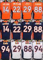 Wholesale 2016 NIK Elite Football Stitched Broncos Thomas Anderson Latimer Roby Ware White Blue Orange Jerseys Mix Order