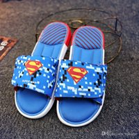 batman sandals - 2016 New fashion Summer hot Sandals Captain America Sandals Iron Man Sandals Superman Batman Cartoon Sandals