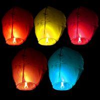 Wholesale Chinese Kongming Flying Sky Lanterns Fire Light Wishing Lamp Wedding Party Festival Originality Kongming Light Party Supplies Party Favors