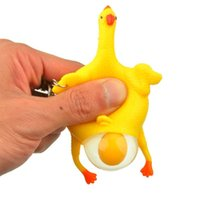 Wholesale Funny Gadgets Interesting Toys Chicken with Egg Laying Hens Crowded Rubber Pie Face Squeeze Toy Spoof Tricky