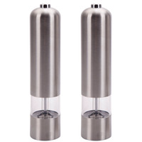automatic pepper grinder - USA High Quality Automatic Stainless Steel Pepper Mill and Salt Grinder Kithchen Mill Tools