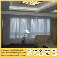 battery automation - Double rail Silent curtain blinds size customed acceptable electric operate and battery operate options compatible with home automation