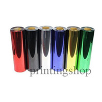 Wholesale 6 sheets x100cm Foil Metalic Heat Transfer Vinyl With Sticky BackTransfer Vinyl From Colors