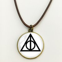 animal fine art - Harry Potter Naruto Movie Darts Pendant Necklace Glass Cabochon Art Photo Fine Fashion Jewelry Silver chain necklaces and pendants