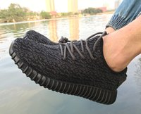 Wholesale 2016 Hot Adidas Yeezy boost Pirate Black Running Shoes Footwear Sneakers Men And Women Kanye West Yeezy milan Sport Shoes With Box