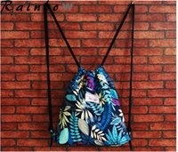 Wholesale 1 sample fashion sport bags high quality drawstring bags outdoor packs cavans backpack unisex drawstring bags men women sport bags