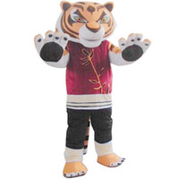 Wholesale Fancytrader High Quality Tiger Mascot Costume Cartoon Animal Kungfu Tiger Costume Adult Size Nice Gift and Decoration