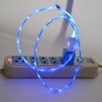 beautiful cords - Newest Colors Beautiful M LED Light USB Cable EL Light Charger Data Sync Cord For iPhone5 S S Plus