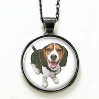 beagle small - 10pcs Beagle necklace little cute dog necklace Glass Photo Small Hunting dogs necklace