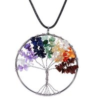 amulet pendants - Amulet Gemstone Charms Crystal Quartz Tree of Life Pendant Necklace for Women Girl