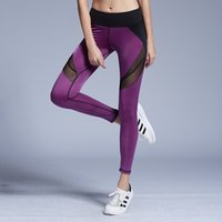 Wholesale Brand New Gym Sports Pants Legging Tights Yoga Clothing Workout Fitness Bodybuilding running Leggings For Female