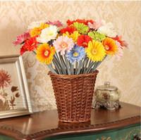 beige vase - Artificial Flowers Silk Flowers Artificial Gerberas Flowers for Home Decoration Wedding Bouquets no vase HJIA414