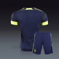 arsenal podolski jerseys - no name no number arsenal third black Jersey with shorts soccer uniforms Ozil alexis ramsey walcott wilshere podolski giroud